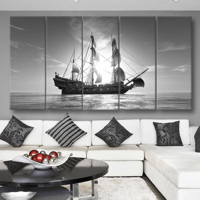 Sunset Voyage Black and White - Amazing Canvas Prints