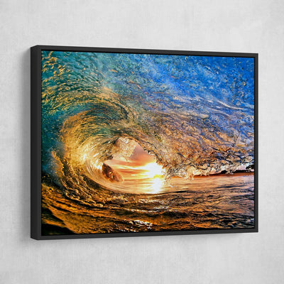 Sunset Wave - Amazing Canvas Prints