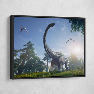 Apatosaurus Dinosaur - Amazing Canvas Prints