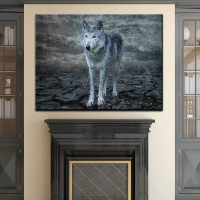 The Grey Wolf - Amazing Canvas Prints