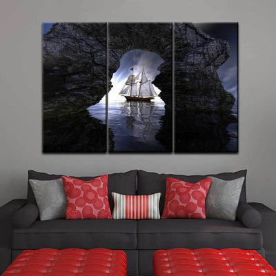 The Passing Ship - Amazing Canvas Prints