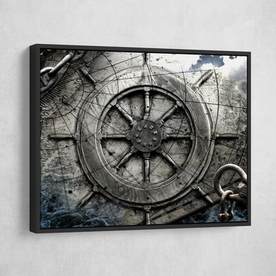 Vintage Nautical Collage V3 - Amazing Canvas Prints