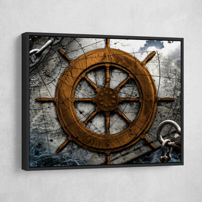 Vintage Nautical Collage V4 - Amazing Canvas Prints