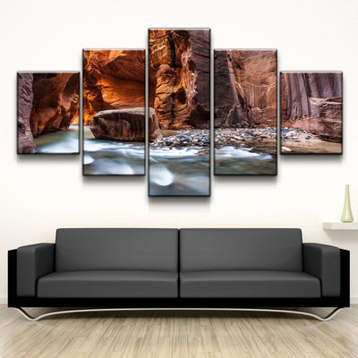 The Narrows of Zion Canyon - Amazing Canvas Prints