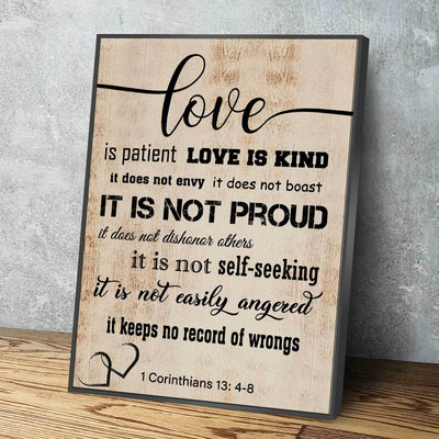 Corinthians 13: 4-8 V2 - Amazing Canvas Prints