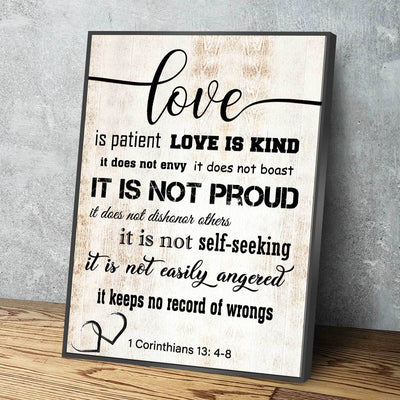 Corinthians 13: 4-8 V3 - Amazing Canvas Prints