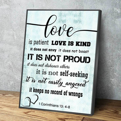 Corinthians 13: 4-8 V4 - Amazing Canvas Prints