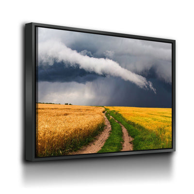 Country Road To The Storm - Amazing Canvas Prints