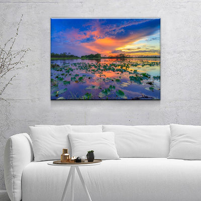 Sunset Over Florida Wetlands - Amazing Canvas Prints