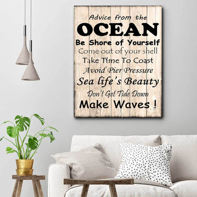 Advice From The Ocean - Amazing Canvas Prints