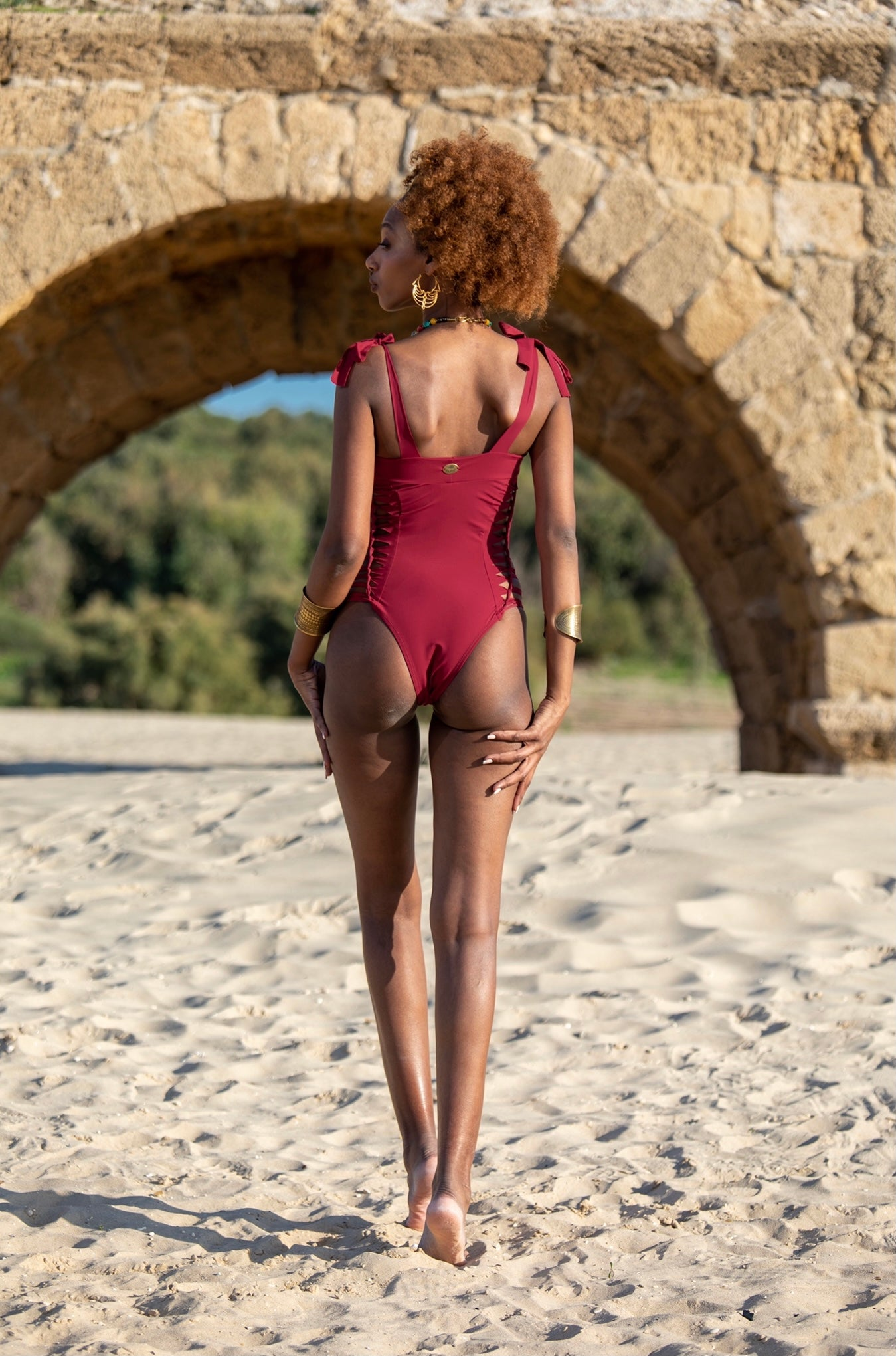 Red One Piece Swimsuit For Women