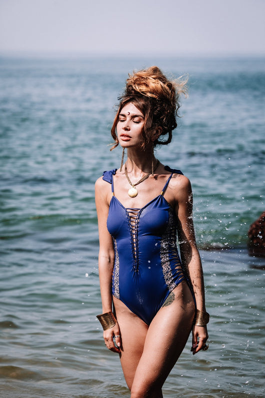 Blue One Piece Swimsuit For Women