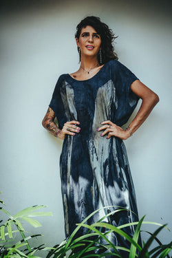 BALI WING KAFTAN - MYSTIC BLUE WINGS