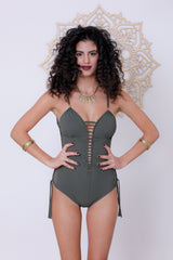 Deli Swimsuit : Green Olive