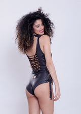 Deli Swimsuit :  Wetlook Black