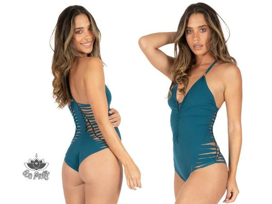 Teal One Piece Swimsuit For Women
