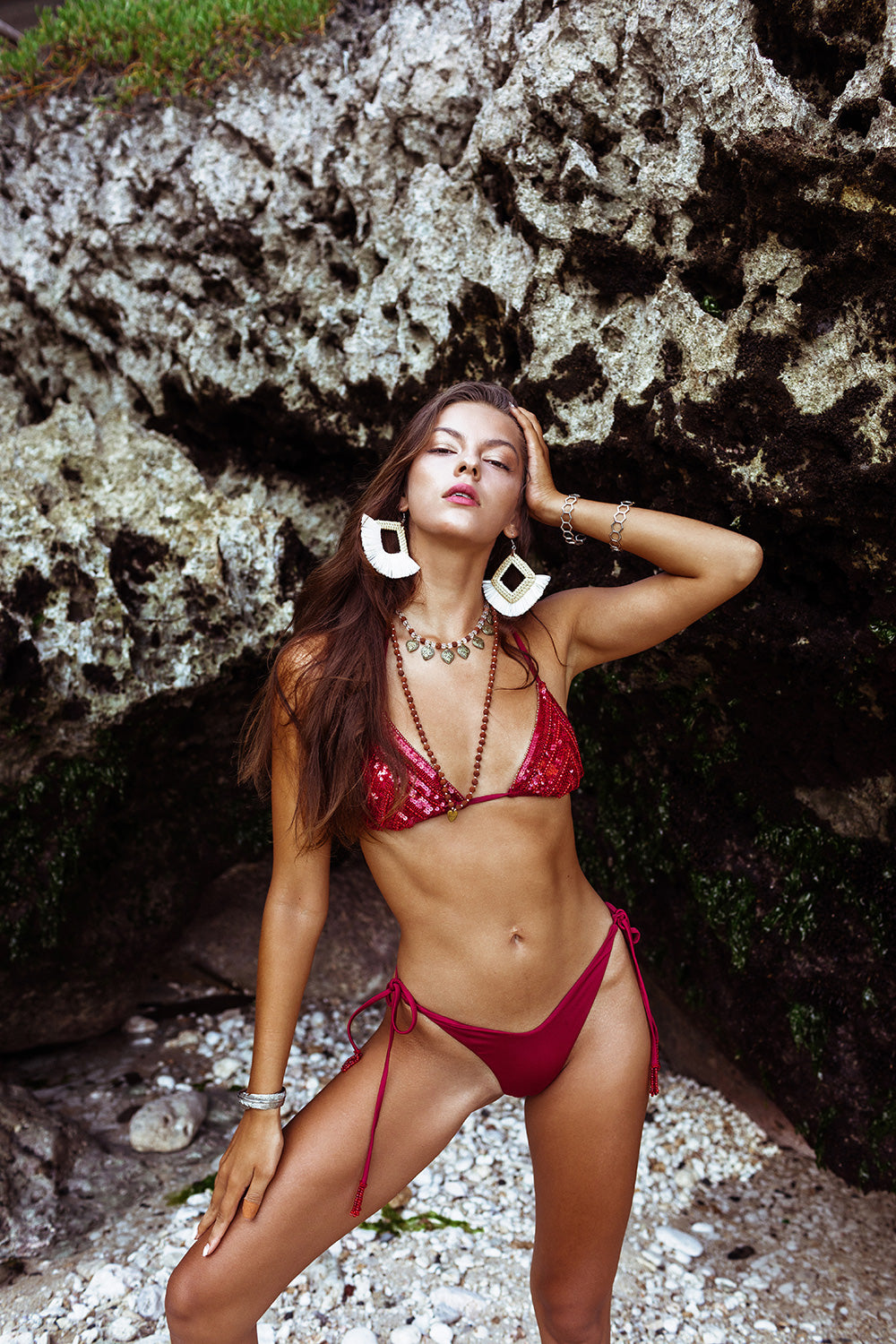 Ruby Sequins Glam Bikini