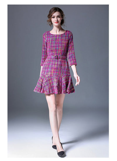 Lotus Slim Kintted Dress - Young and Trendy