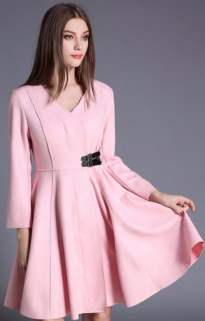 Elegant V Collar High End Fashion Dress - Young and Trendy