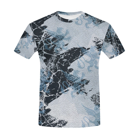 Gothic Griffin Print All Over Print T-Shirt