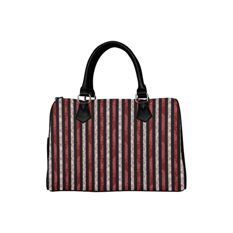 Two Tone Striped Damask Boston Style Handbag