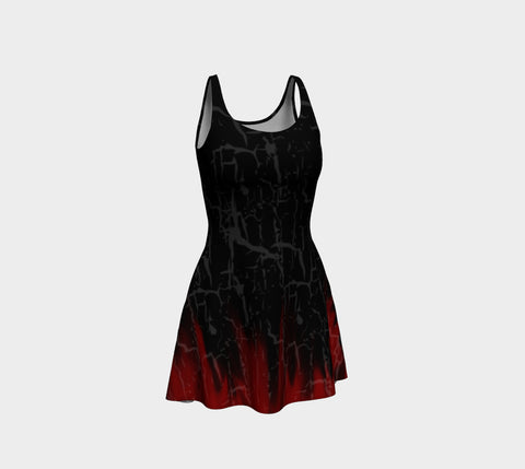 Cracked Flames Gothic Dress