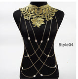 Lace Collar Chain Necklace Statement Jewelry