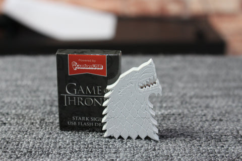 Game of Thrones House Stark Sigil Dire Wolf USB Drive