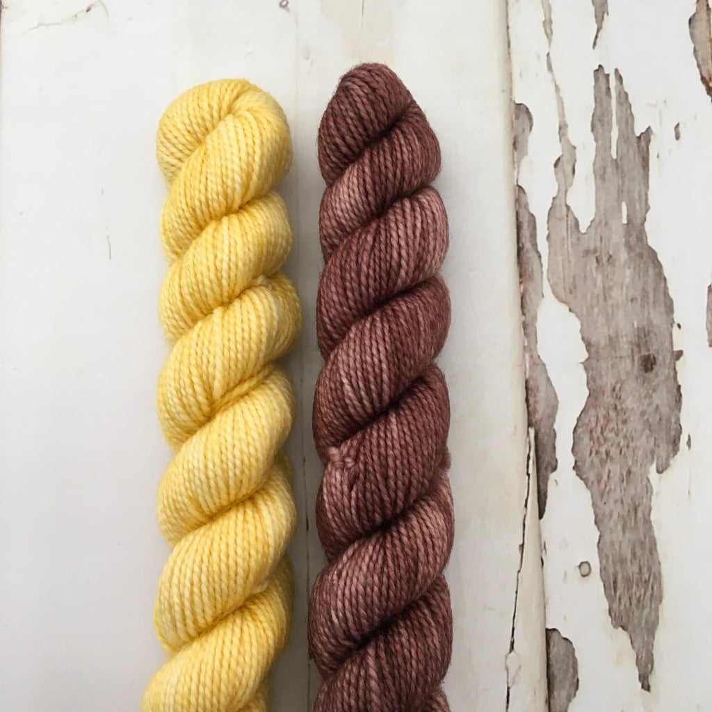 Taffy Twirls --- Yellow / Brown