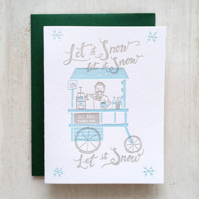 christmas holiday singapore letterpress greeting card