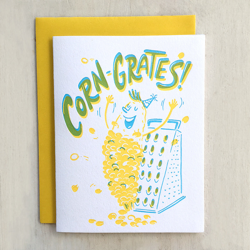 congratulations letterpress greeting card