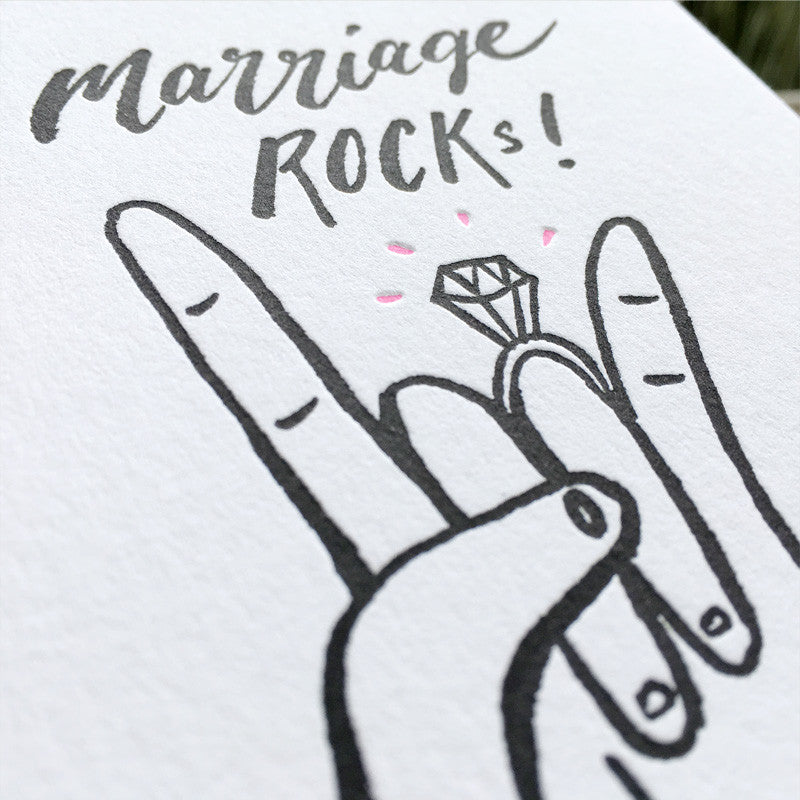marriage letterpress greeting card