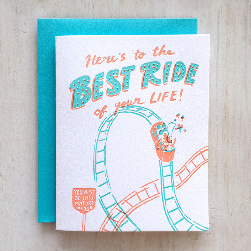 Best Ride Letterpress Card
