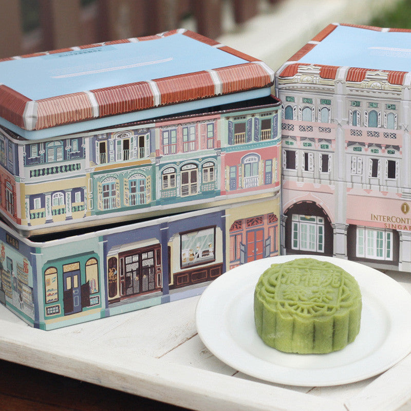 InterContinental Hotel Mooncake Tin Illustration