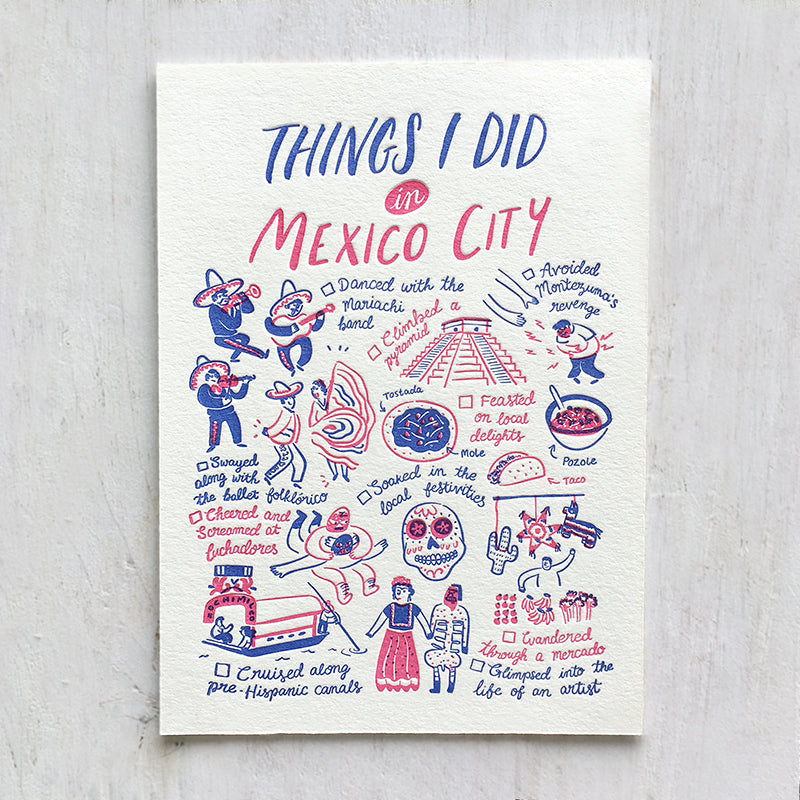 Mexico City, Things I Did