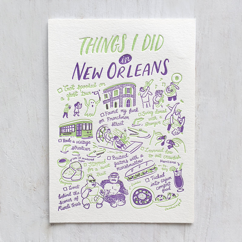 New Orleans, Things I Did