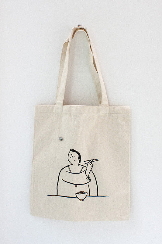 Fingersmith pesky fly canvas tote bag