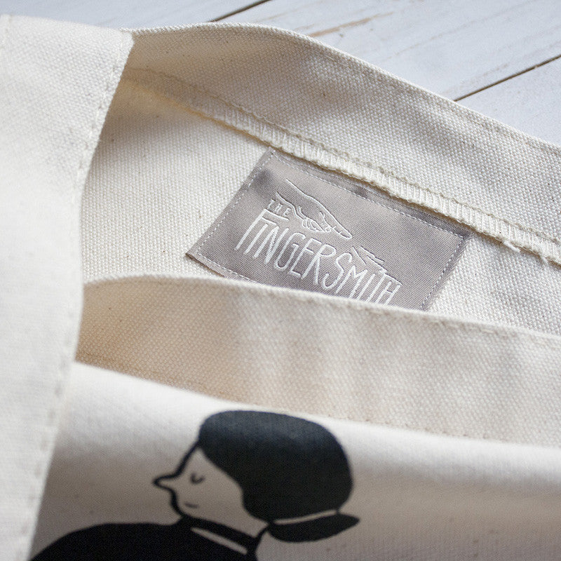 wedgie canvas tote bag