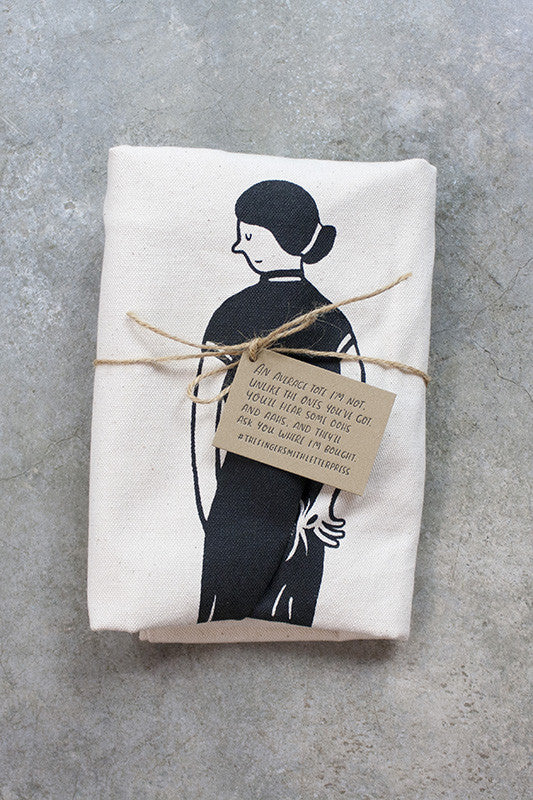 Fingersmith wedgie canvas tote bag