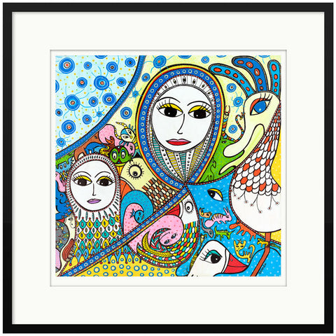 LIMITED EDITION - PRINT: Fantasidyrenes Invasion/ The Invasion of FantasyTastic Creatures -  50 x 50 cm
