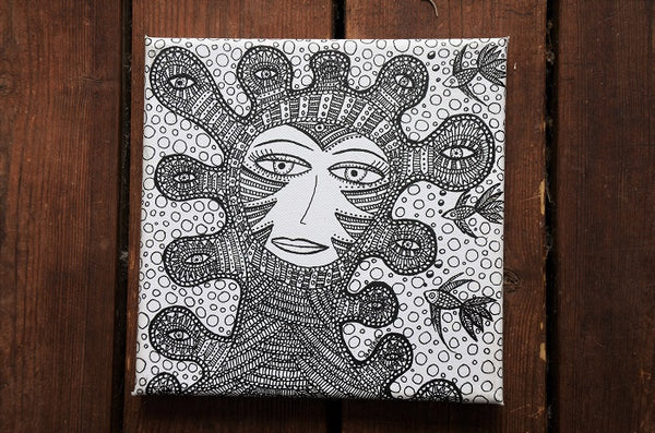 Det tredje øje - og flere til II/ The third eye - and more II - 20 x 20 cm
