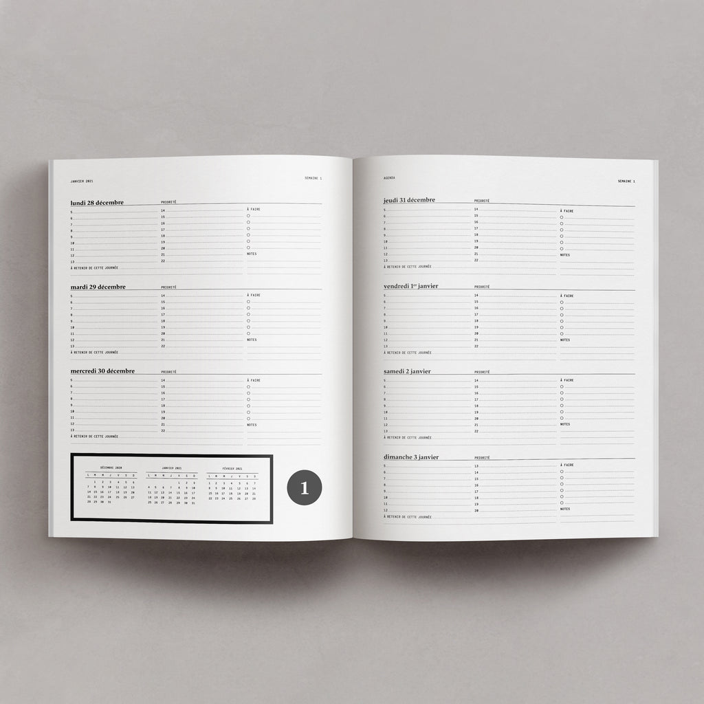 Notagenda / Planner 2021 – Nocturne - Raoul & Simone