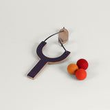 Pom pom Slingshot / Orange & Plum