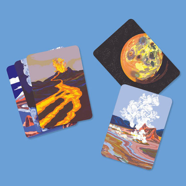 Volcanoes /<br>Informative Cards<br>*ENGLISH - Raoul & Simone