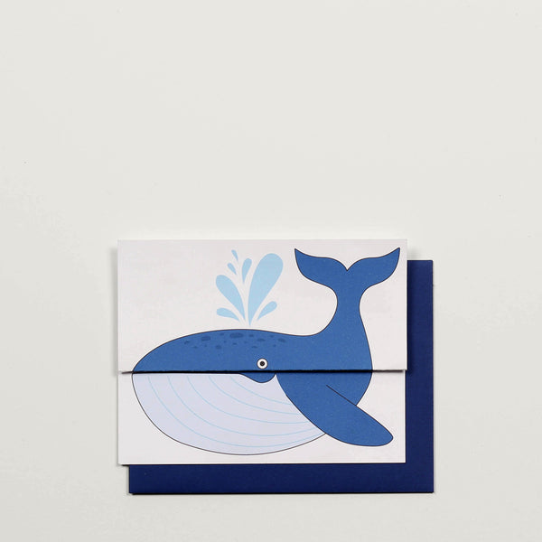 Whale / Greeting Card - Raoul & Simone