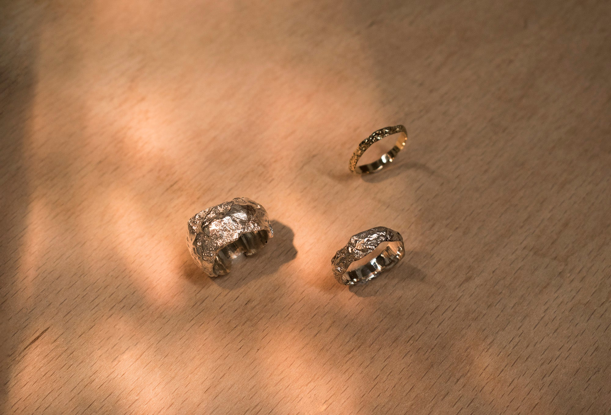 Wedding Ranges, by Laura Nelson. Made from Gold, silver and white gold