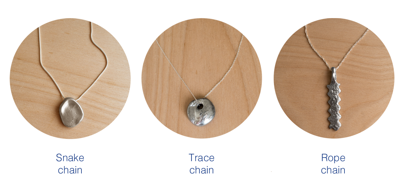 Pick your chain to accompany your hand crafted pendant made using the T.I.Y KIT