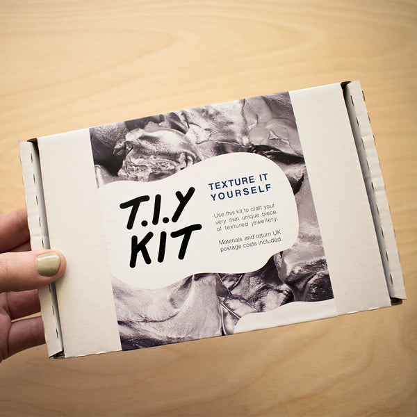 T.I.Y KIT By Laura Nelson have your own textured creation cast in recycled silver