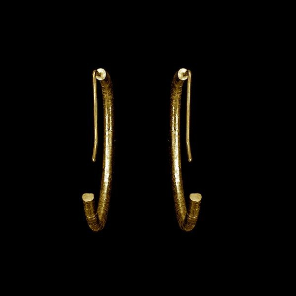 Textured Earrings by Laura Nelson - Contemporary Fine Jewellery Gold Plated