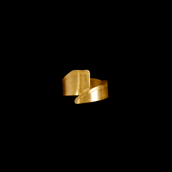 Torn Band by Laura Nelson - gold plated sterling silver. Designed and made in the UK.